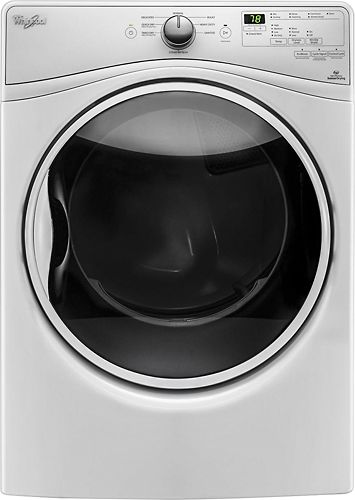 Whirlpool - 7.4 Cu. Ft. 8-Cycle Gas Dryer with Steam - White - Larger Front