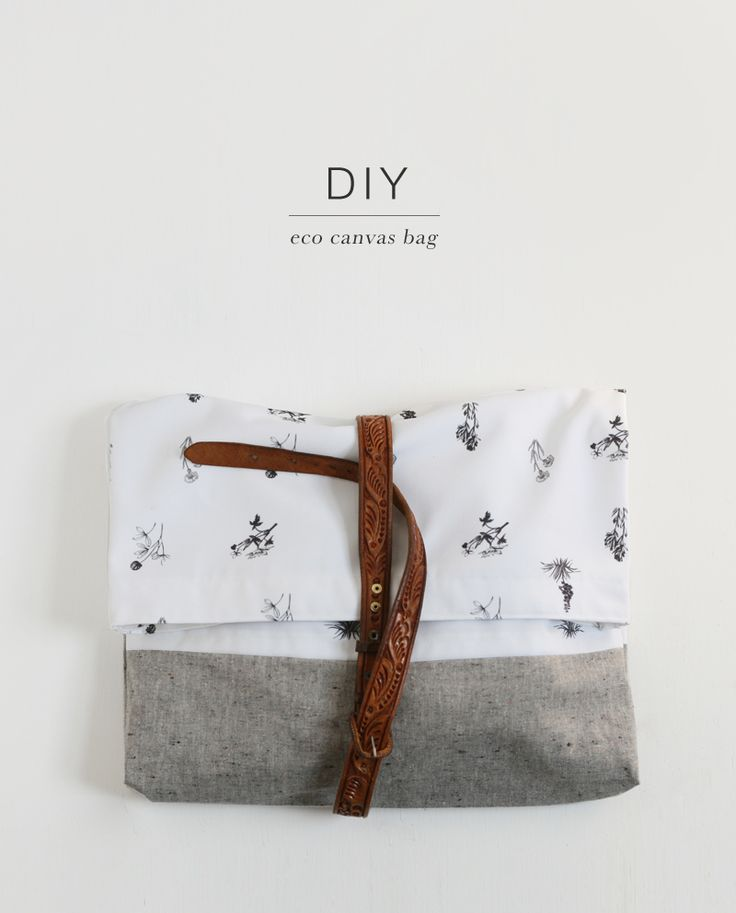 Looks like I need to check thrift store for some belts... DIY - Eco Canvas Bag