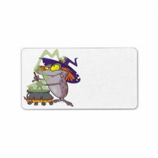 Witch frog address label
