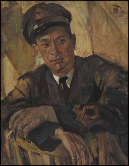Frederick Varley - Portrait of a Naval Officer Harry Kelman 27.5 x 21.5 Oil on canvas (1943)
