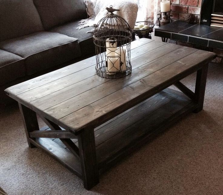 Rustic Coffee Table   Home Style   Pinterest