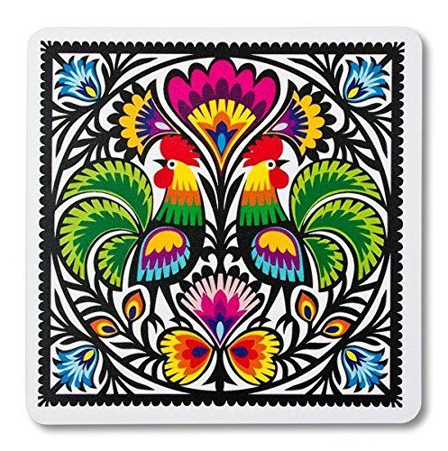 A must-have for all computer users, who like to add a little folk art to their work space. Will add a warm touch to your home or office while protecting your mouse from scratches and debris. It has a