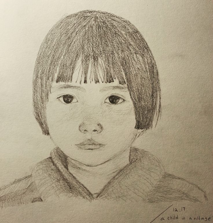A little girl with short hair