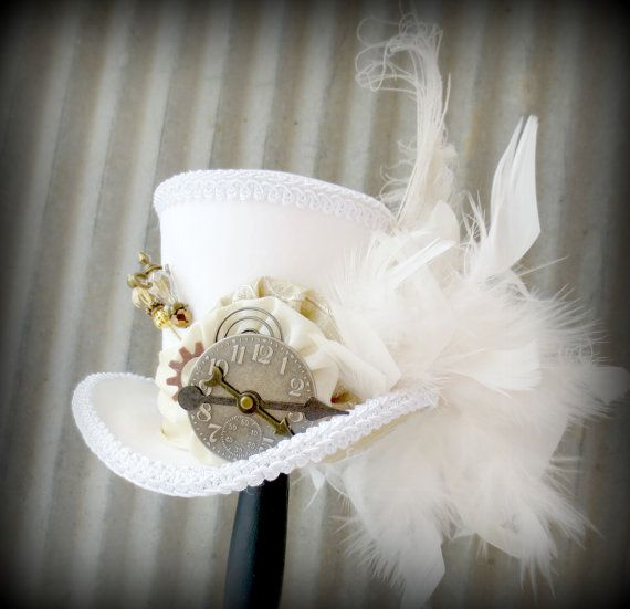 Inspiration: White Rabbit in Gold, Alice in Wonderland Hat