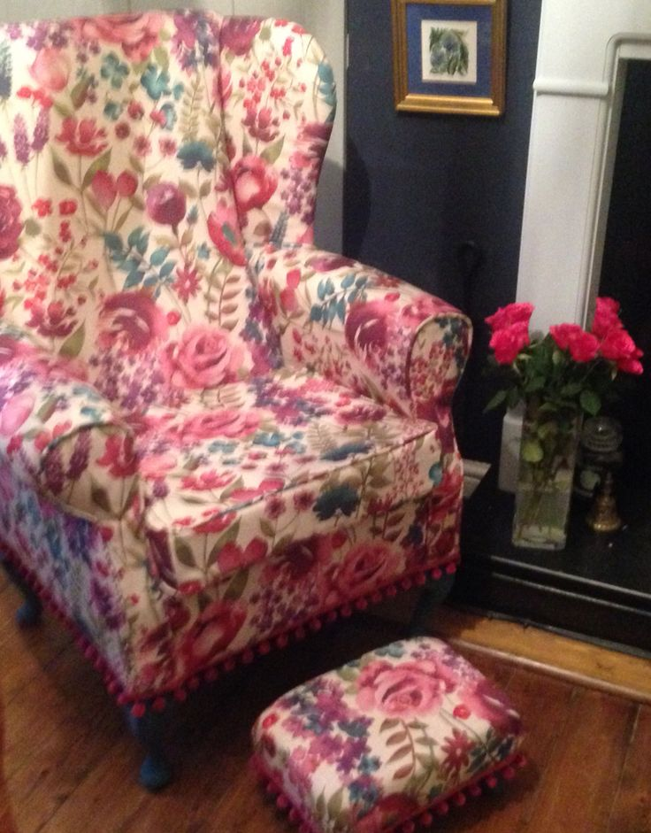SOLD Misty Moors Wing Chair nearly ready for sale