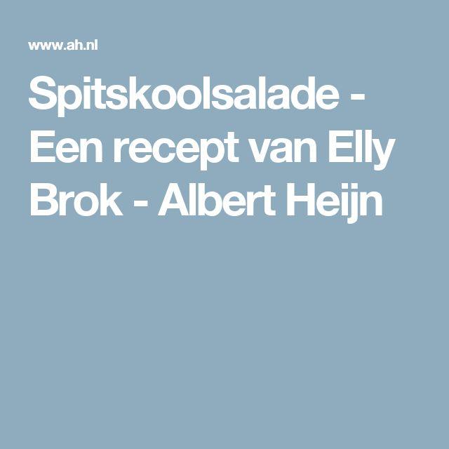 Spitskoolsalade - Een recept van Elly Brok - Albert Heijn