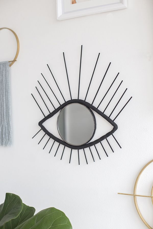 DIY decorative eye mirror