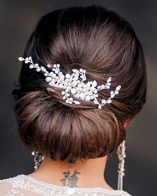Wedding Hairstyle For Long Hair  : chic chignon