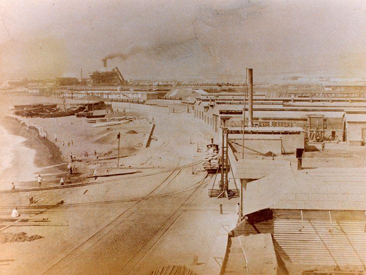 Antofagasta. La Poza en1879. El perímetro urbano entorno a La Poza, constituye el núcleo histórico y fundacional de Antofagasta, y en 1985 fue declarada Zona Típica.