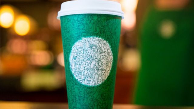 """New coffee cup design released a week before Election Day has some customers thinking: """"political agenda"""""""