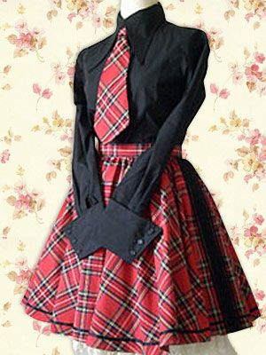 Lolita England School Uniform Lolita Halloween Cosplay Costume 640