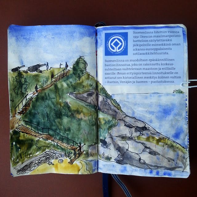 From sketchbook of Petri Fills #sketchbook #drawing #Suomenlinna #Unesco