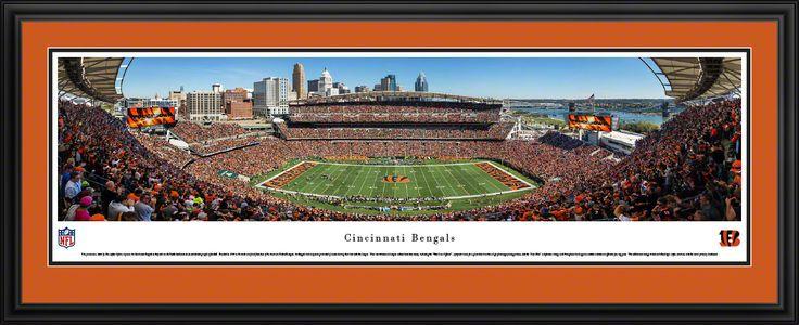 Cincinnati Bengals Panoramic Picture Framed- Paul Brown Stadium Panorama