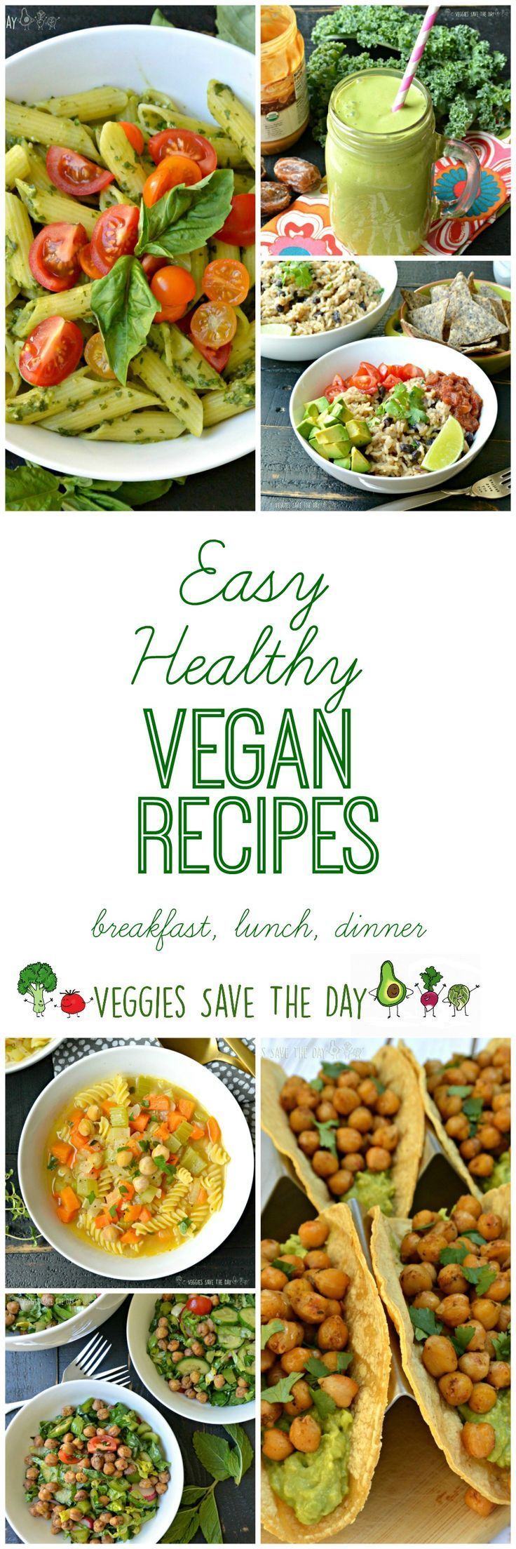 From green smoothies to stir fry, it's easy eating plant-based with this collection of healthy vegan recipes for breakfast, lunch, and dinner.