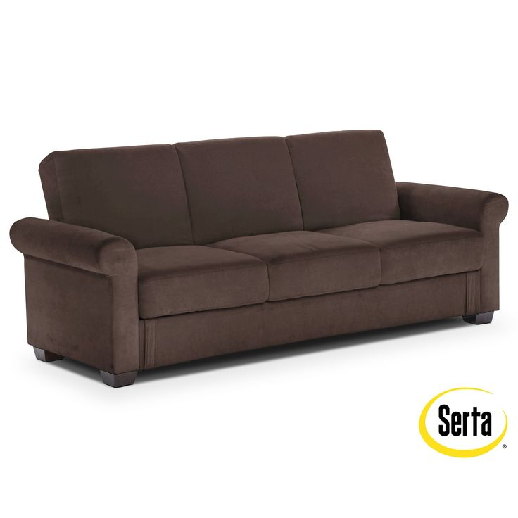 Comfort and Joy. Amazingly versatile, the Thomas futon sofa bed with storage is the ultimate in fashionable function. The contemporary Euro lounger design is easily adjustable from sofa to lounge and bed positions, and includes convenient hidden storage space at the base to keep blankets and bedding items within reach. The deep java colour will enrich most room décor.   A web-exclusive product. Item is not displayed in store, but may be ordered there.