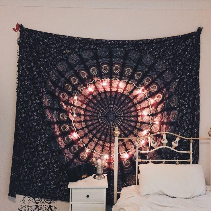 Blue Indian Mandala Tapestry 05