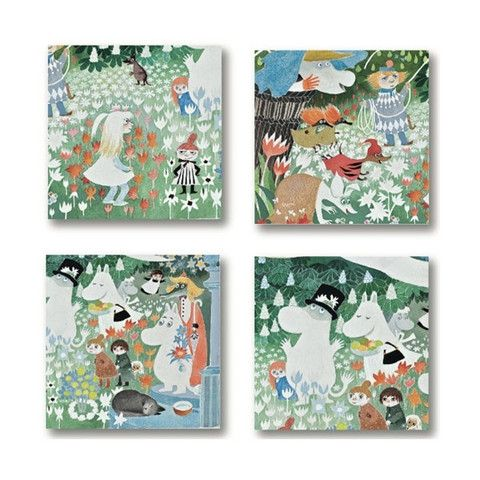 Dangerous Journey glass coasters by Opto Design - The Official Moomin Shop