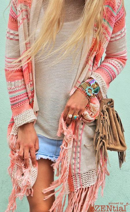 Cute Aztec printed cardigan ≫∙∙boho, feathers + gypsy spirit∙∙≪