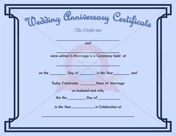 wedding anniversary certificate template - 43 best anniversary certificate templates images on