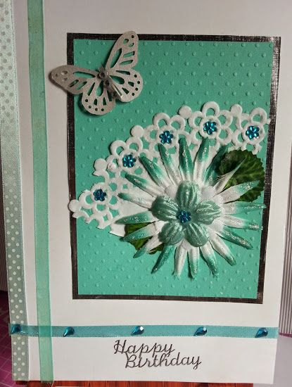 Using a doily for a feminine card.