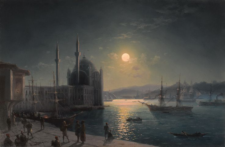 View of Istanbul in Moonlight, 1894 'Ivan Aivazovsky'