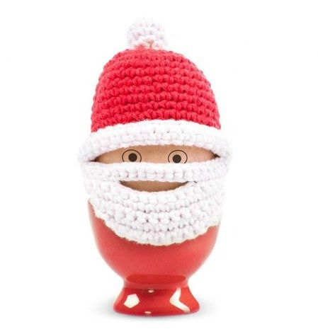 knitted eggcup disguised as Santa! Yeh.