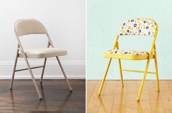 Transformez les chaises pliantes