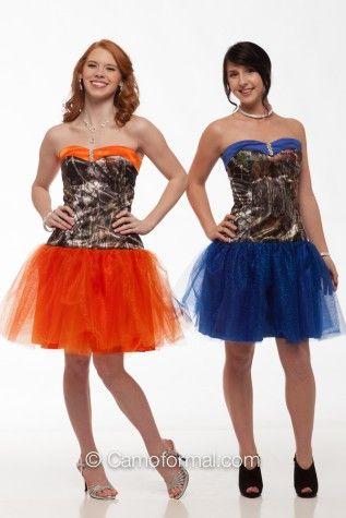 Mossy Oak camo with FUCHSIA glitter net and trim, camo prom dress, homecoming dress