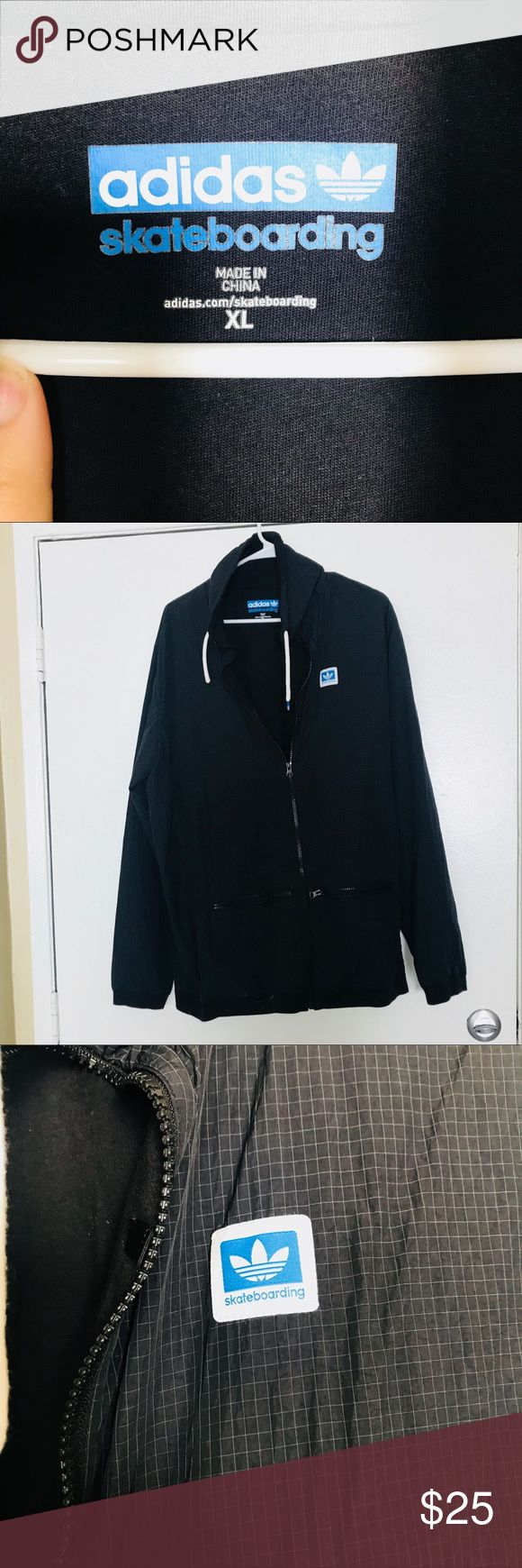 Men's Adidas Rain Jacket Perfect condition men's Rain Jacket, size XL with many pockets and a drawstring hood. adidas Jackets & Coats Raincoats
