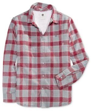 Element Men's Fleece Plaid Shirt - Gray S