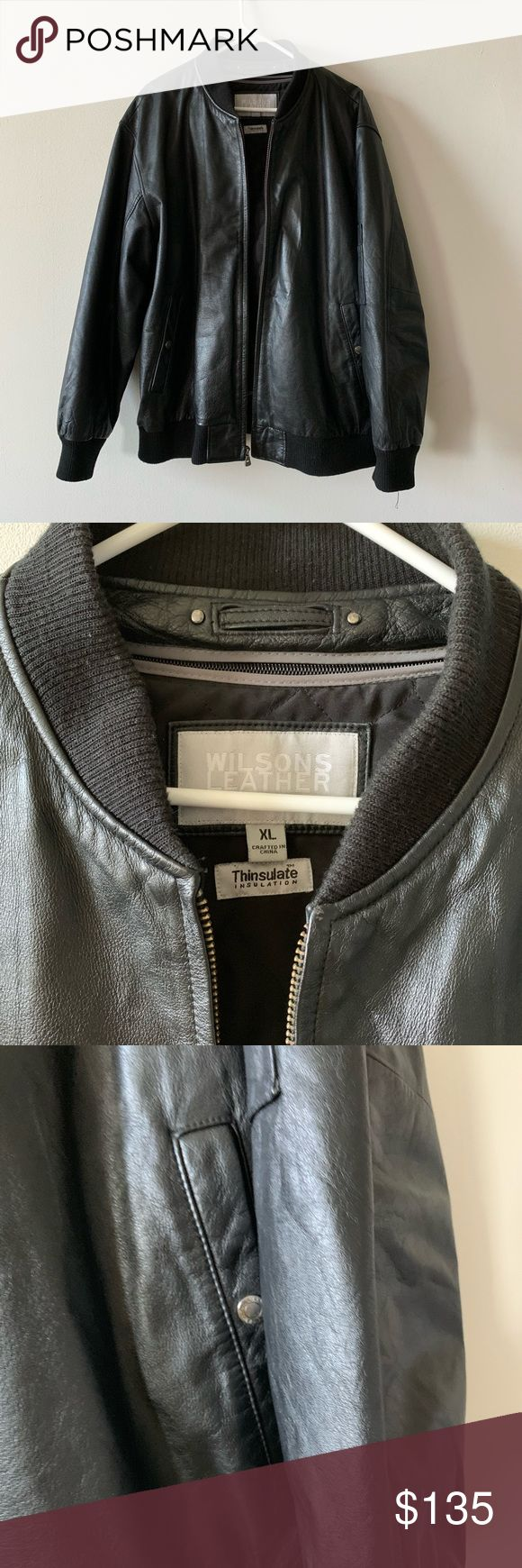 Wilson's Leather M. Julian Leather Bomber jacket Leather
