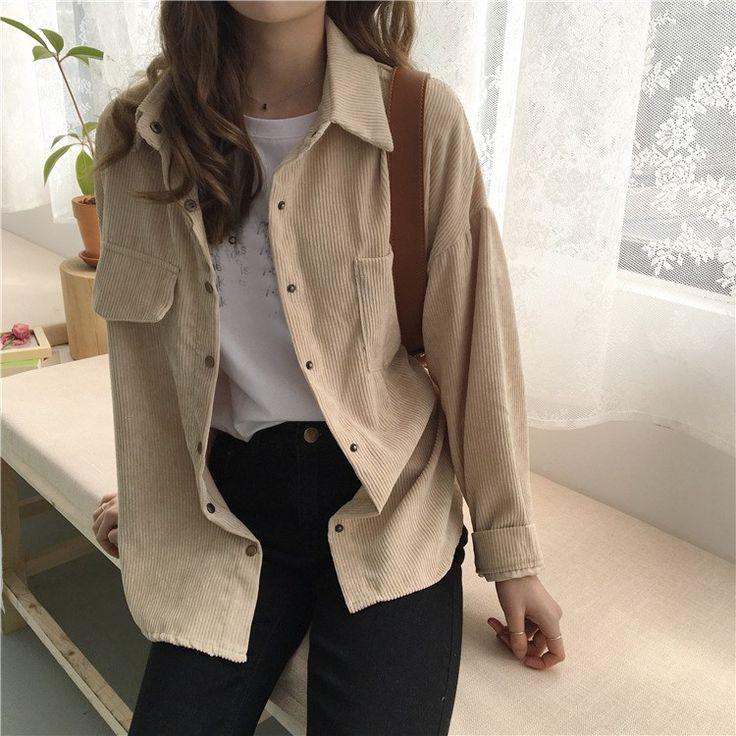 Women Loose Jackets Long Sleeve LP01  #jacket #jacketfur #jacketcoat #jacketwome…