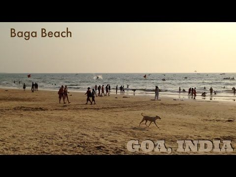 Baga Beach, Goa, India, in 2015: ordinary afternoon with Chittiyaan Kalaiyaan in the air - YouTube