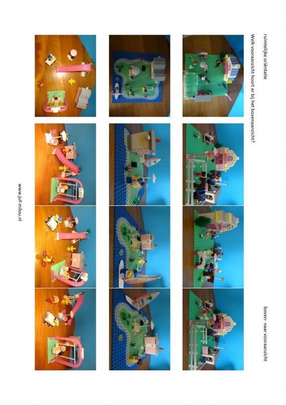 Werkbladen - ruimtelijke orientatie - boven naar vooraanzicht ~ Juf Milou
