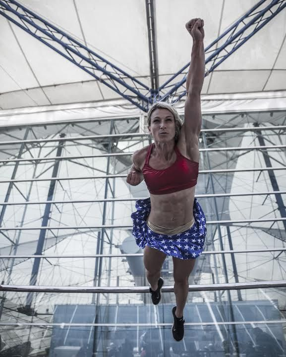 Jessie Graff is the only woman to have completed Stage 1 of American Ninja Warrior. (Courtesy of Danielle Lenniger)