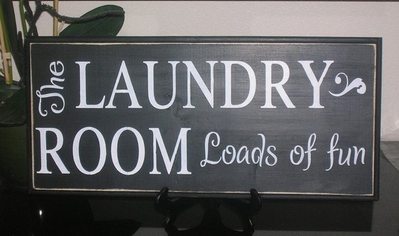 The Laundry Room Loads Of Fun Wood Sign Wall Hanging