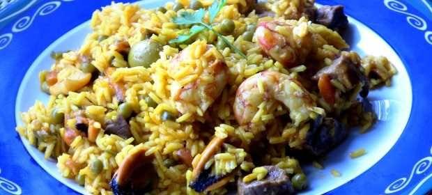 Paella mixta - receta casera
