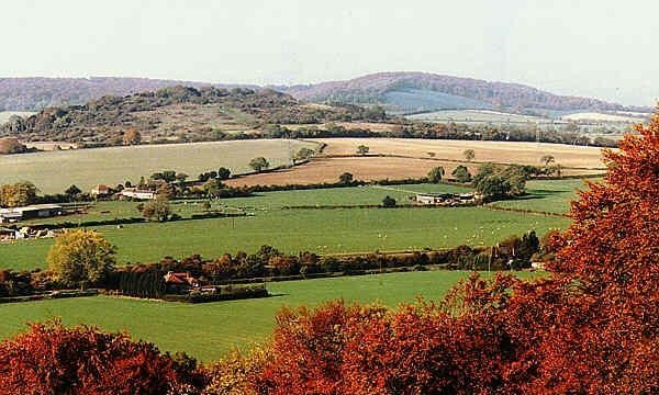 A view of Chalkpit Hill, where the last chapter of the Cloud Seeker takes place.