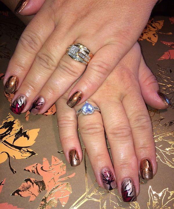 Last Autumn Nail Art Of The Year: 144 Best Autumn Nail Art Images On Pinterest