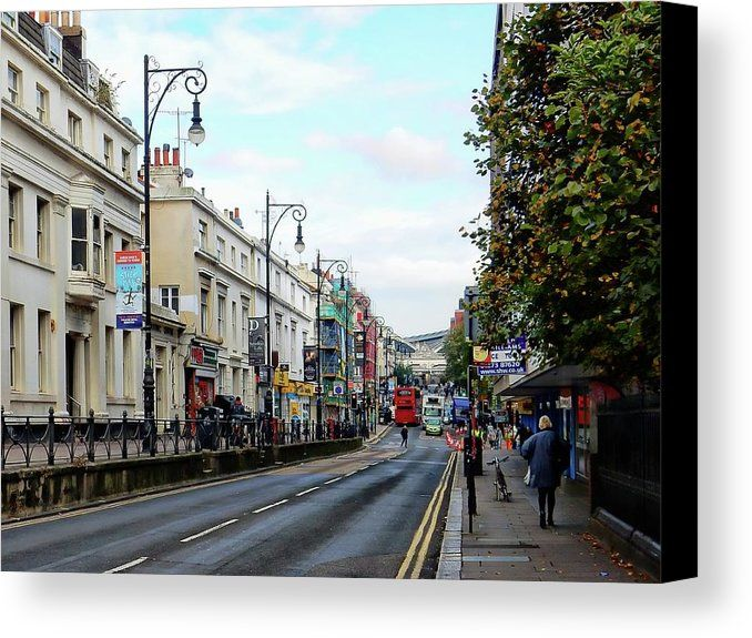 Queens Road Canvas Print featuring the photograph Queens Road Brighton by Dorothy Berry-Lound