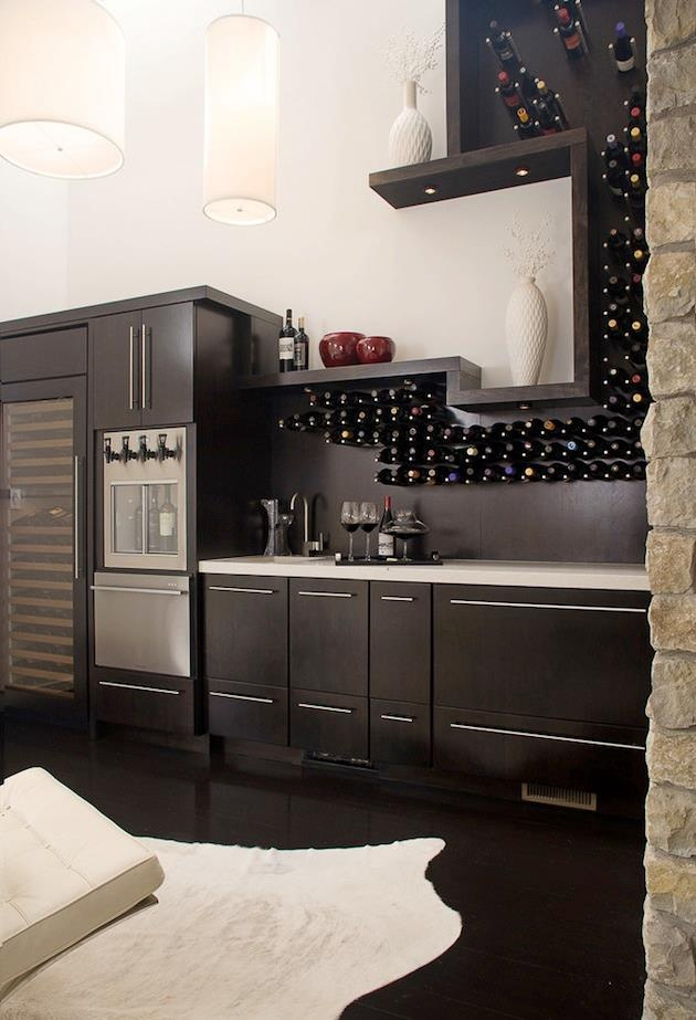 Wine Bar Decorating Ideas Home Part - 33: Modern Wine Cellar, Vin De Garde Wine Wall, Wine Pegs, Fox Chapel Wine Bar  - Contemporary - Wine Cellar - Other Metro - NOTION, LLC