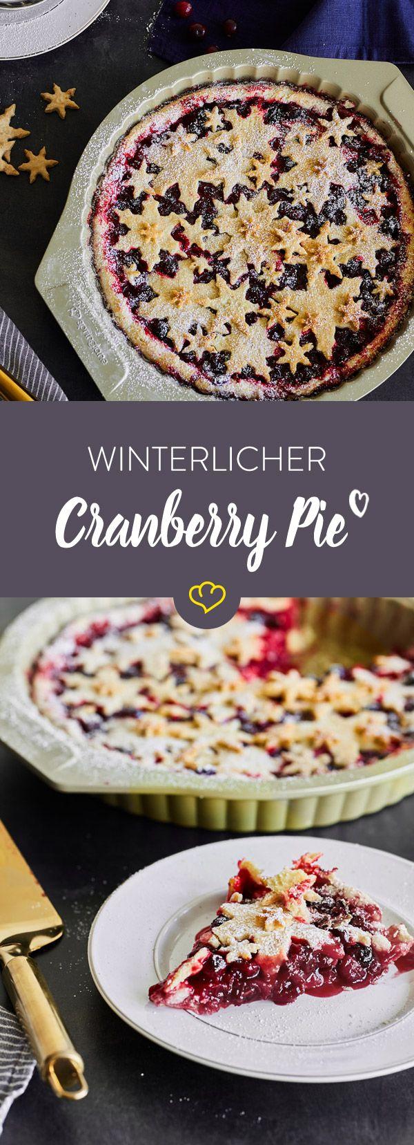 Mal was anderes als Apple Pie: Mit Cranberries wird die Füllung beerig-fruchtig und passt wunderbar in die Weihnachts-Zeit.