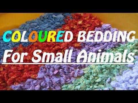 How To Make Coloured Hamster Bedding {Carefresh}