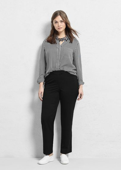 Straight suit trousers | VIOLETA BY MANGO