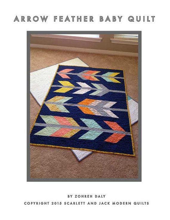 By popular demand! Heres your chance to make your very own arrow feather crib quilt! I tried to make the pattern as clear and straightforward as