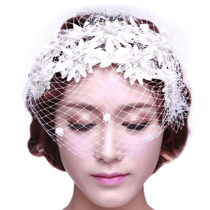 mulhers com joias | borlas Lace cocar de noiva do casamento cabelo acessórios mulheres ...