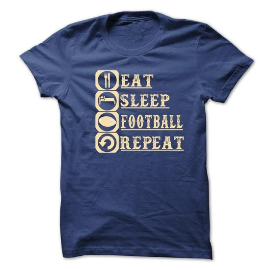 eat_sleep_football _repeat - Hot Trend T-shirts