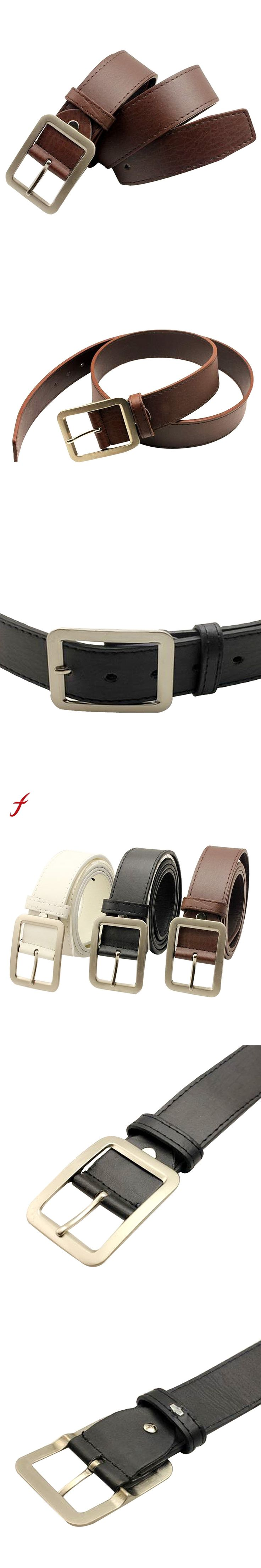 Simple Types Fashion Pin Buckle Mens' Womens' Wide Belt Classic Adult designer belts men women high quality belts for women 2017