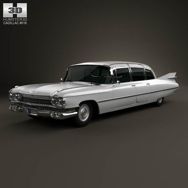 Wilson Cadillac: Cadillac Fleetwood 75 Sedan 1959 3D Model