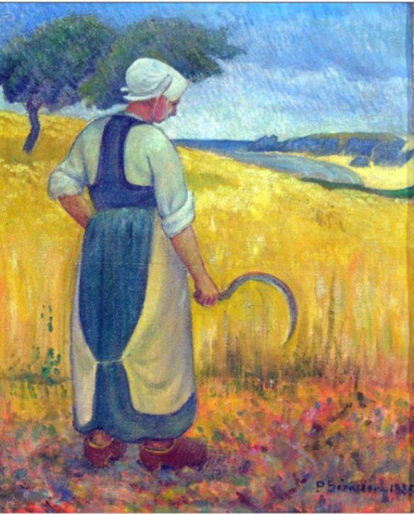 art.quenalbertini: Jeune Bretonne à la Faucille by Paul Sérusier
